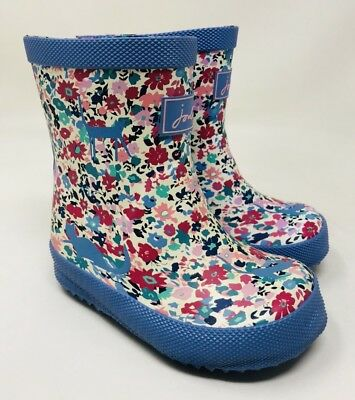 Joules Walker Girl's Joules Baby Welly Print Waterproof Boot Size 5 Blue