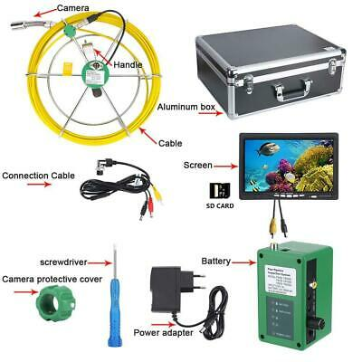 """50M 7""""LCD DVR  8GB Waterproof Pipe Inspection Video Drain Pipe Sewer Inspection"""