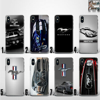 Ford Mustang Shelby Cobra Muscle Car Logo Thin Uv Case Cover For Iphone