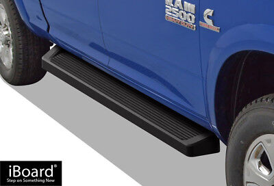 iBoard Black Running Boards Style Fit 09-18 Dodge Ram 1500/2500/3500 Crew Cab