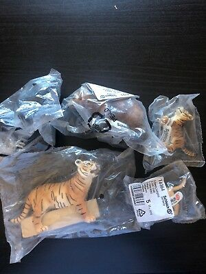 Schleich Lot of 5 Wild or Zoo Animals Excellent Condition ( One Is retired )