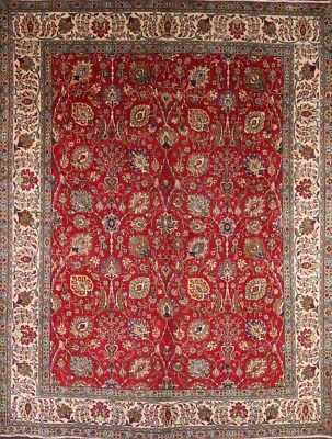 Great Stunning Semi Antique All Over 10x13 Tebriz Wool Oriental Handmade Rug