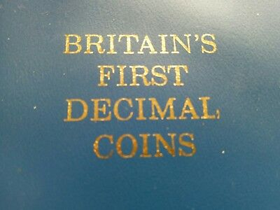 1971 1968 GB Britain's First Decimal Coin's Set 10p 5p 2p 1p ½p UNCIRCULATED yy