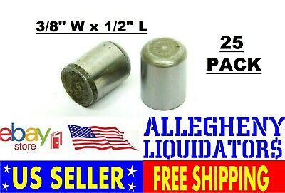 "(PACK OF 25) NEW 3/8"" x 1/2"" ALLOY STEEL DOWEL PINS FINISHED FREE SHIPPING NH"