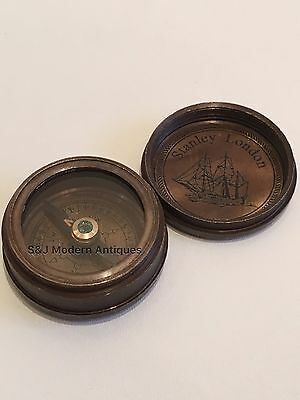 "Antique Compass Vintage Brass Nautical 1.5"" Inch Victorian Steampunk Retro Old"