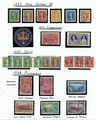 Weeda Canada 231//315 VF used 1937-51 KGVI issue collection CV $150.40