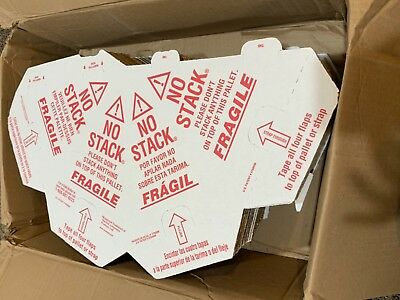 50 Pack Pallet Cones Red/White Corrugate NoStack 45GY12 Spanish English ShpsFREE