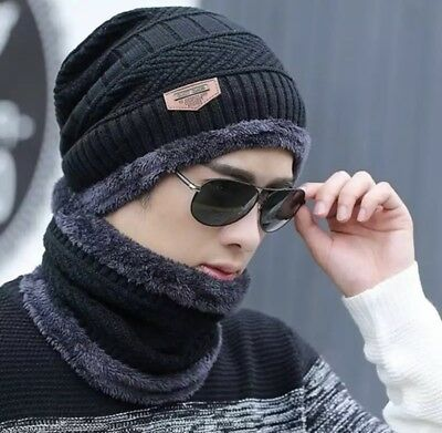 Brand new Winter Hat for Men Cotton Beanie Knitted Caps Woolly Hat UK