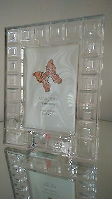"""MARQUIS by Waterford Crystal Picture Frame 3.5"""" X  5""""new"""