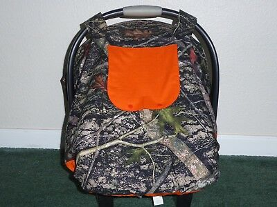 **TRUE TIMBER CAMO**Fitted w/peekaboo opening Handmade Car Seat Canopy-Cover