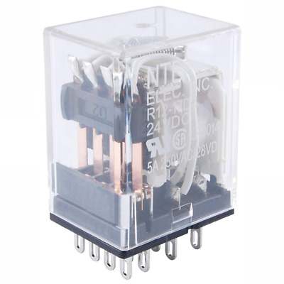 """NTE Electronics R47-5D15-110 RELAY SPST-NO 15AMP 110VDC .187/"""" COIL .250/"""" LOAD"""