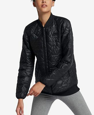 ff4a5415b84d Nike Sportswear Womens Quilted Weather Resistant Jacket -  BLACK-MEDIUM-( 140)