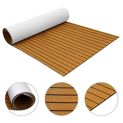 Deck Brown 240x120CM Synthetic EVA Foam Teak Sheet Decking Marine Flooring Use