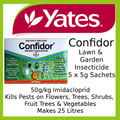 Yates CONFIDOR Garden Insecticide 5 x 5gram Sachets Targets Sucking Insects