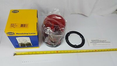 Hella 1718 Revolving Lamp with Red Lens Includes H1 Globe 12VDC 55W - New