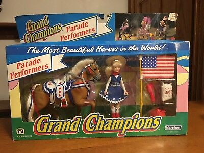 Vtg 1993 Marchon Grand Champions Toy Parade Performers Palomino Horse Doll MIP