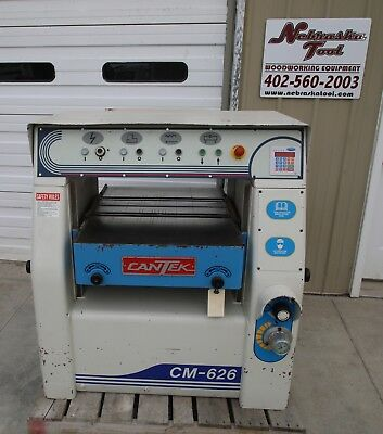"Cantek Cm-626 26"" Spiral Head Planer 20 Hp 3 Ph Digital"