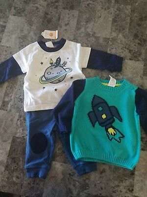 NWT Gymboree Boys Lot space alien rocket 3-6 months