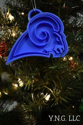 Los Angeles Rams Nfl Football Logo Hanging Ornament Holiday Christmas Pr2055
