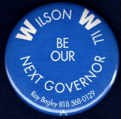 Pete Wilson San Diego California '90 Governor Senator Political Pinback Button 2
