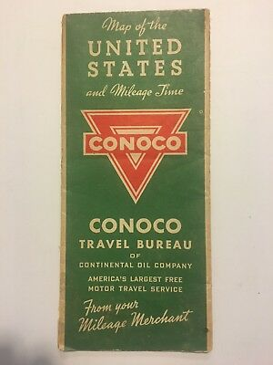 Vintage Map CONOCO MAP OF THE UNITED STATES