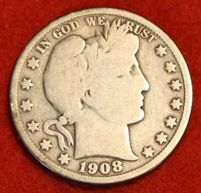1908-P 50C Barber Half Dollar Vg Beautiful Coin Check Out Store Bh534