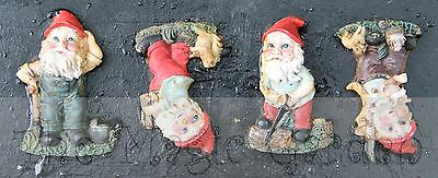 Set of 4 cute gnomes plaster resin cement craft latex moulds molds