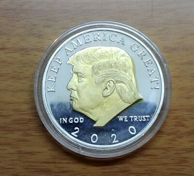 Donald Trump 2020 Gold and Silver Challenge Coin KEEP AMERICA GREAT!