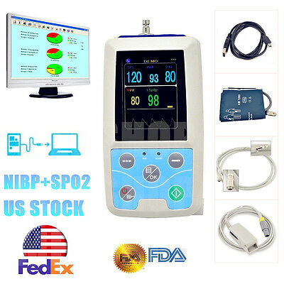 PM50 24h Ambulatory Blood Pressure Monitor Spo2 Monitor Analysis Software USA
