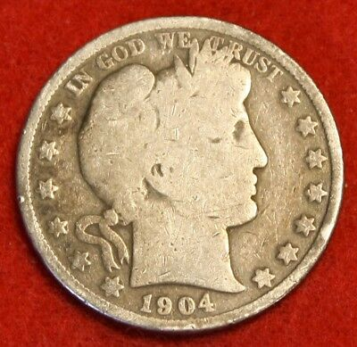 1904-P 50C Barber Half Dollar G Beautiful Coin Check Out Store Bh548