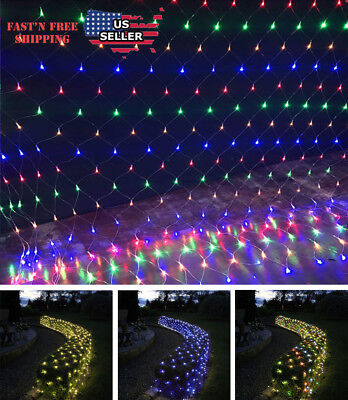 Mesh LED Light Net Fairy String Curtain Lights Party Wedding Xmas Decor 1.5/3M