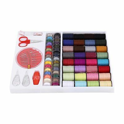 1Set Sewing Kit Measure Scissor Thimble Thread Needle Home Travel With Box 2019