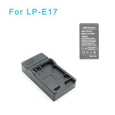 Digital USB Camera Battery Charger For Canon LP-17 EOS M3 EOS 750D EOS 760D Top
