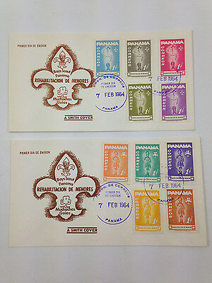 Vintage 1964 Boys Scout Panama Smith Cover with both Boy & Girl Scout Stamps