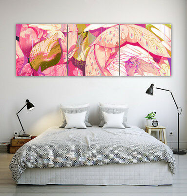 "16x16"" 3Parts Unframed Beauty Pink Nordic Bedroom Home Wall Art Decor Printed"