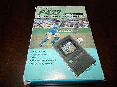 """CITIZEN LCD COLOUR TV & VIDEO MONITOR 2.2"""" Auto Tuning System."""