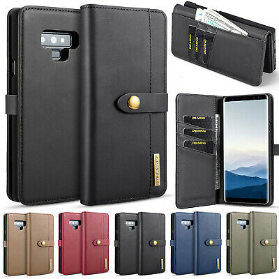 For Samsung S8 Case S7 Edge Note 9 Detachable Magnetic Flip Leather Wallet Cover