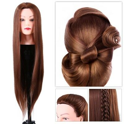 Salon Hairdressing Practice Training Head Long Hair Mannequin Doll + Clamp Stand