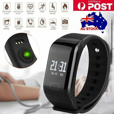 OLED Touch Bluetooth Smart Bracelet Watch Heart Rate Monitor Blood Pressure NEW