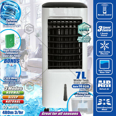 7L Devanti Portable Fan Evaporative Air Cooler  Humidifier Water Conditioner