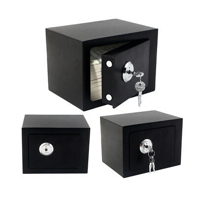 Strong Steel Safe Key Lock Security Home Office Money Cash High Safety Box UK