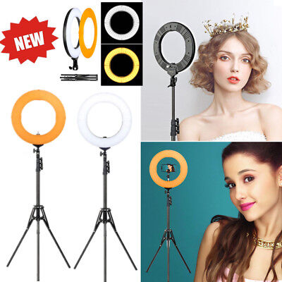 """US 14"""" LED SMD Dimmable 5500K Ring Light w/ Stand for Makeup Phone Camera Selfie"""
