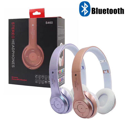 Bluetooth Wireless Foldable Headset Stereo S460 Headphones Noise Cancelling Hot