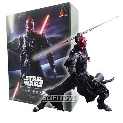 """10"""" VARIANT Star Wars DARTH MAUL Collectable Figure Square Enix Play Arts Kai"""