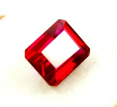 New Year Offer GGL Certified 6.40 Ct Natural Emerald Cut Red Mozambique Ruby Gem