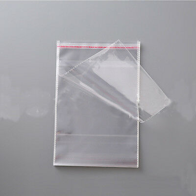 100 PCS Self Adhesive Jewelry bags Poly Plastic OPP Clear Seal 8cmx12cm Unsealed