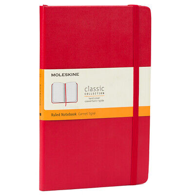 NEW Moleskine Classic Hard Cover Ruled Notebook Red Large