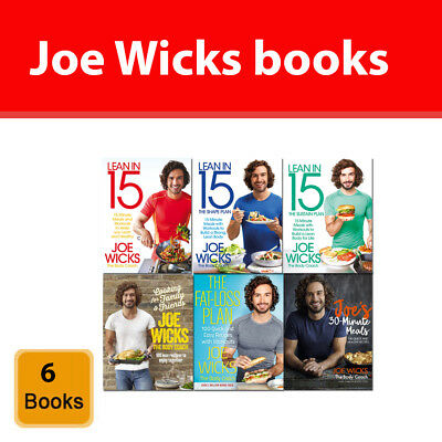 Joe Wicks 6 books collection set pack Lean in 15, Fat-Loss Plan, 30 Minute Meals