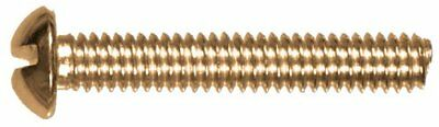 The Hillman Group 2005 8-32 x 1/2 Brass Round Head Slotted Machine Screw 40-Pack