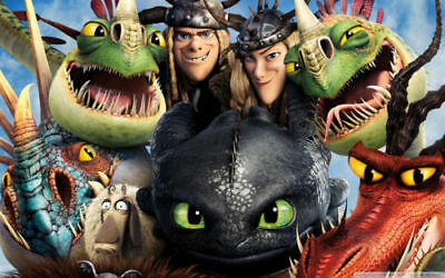 "How to Train Your Dragon 1 2 Wall Movie 21/""x13/"" Poster H35"
